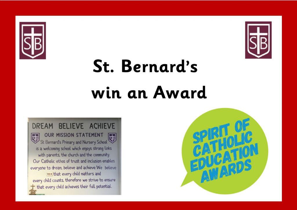 St. Bernard's win an Award!