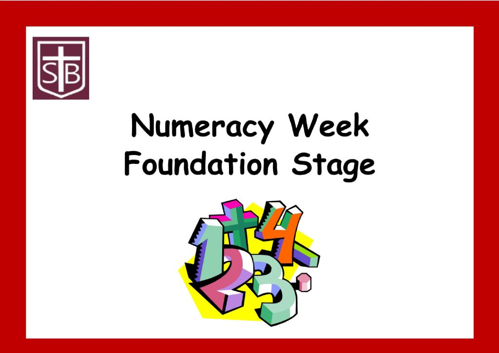 Numeracy Week in Foundation Stage